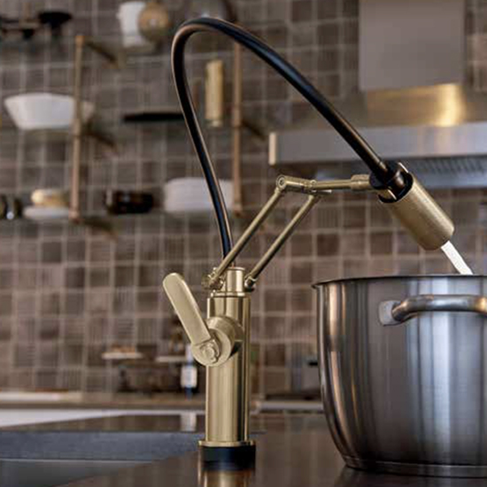 modern gold kitchen sink faucet