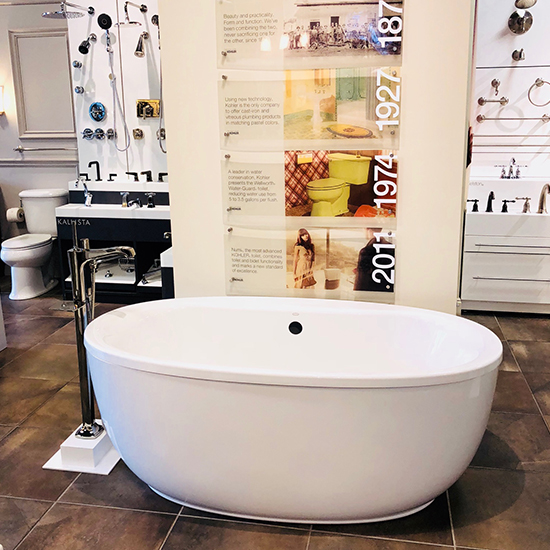 white deep oval tub